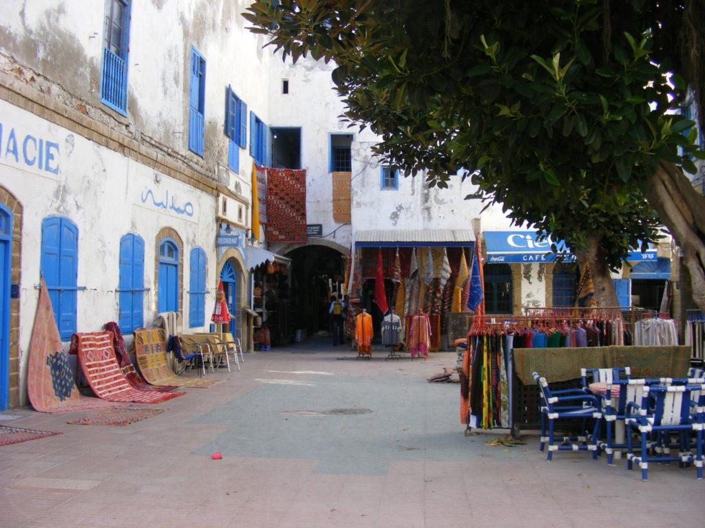 Souk inside the Essaouira Medina.