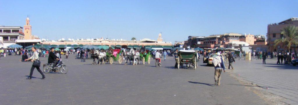 Place Djemaa El-Fna, Marrakech.
