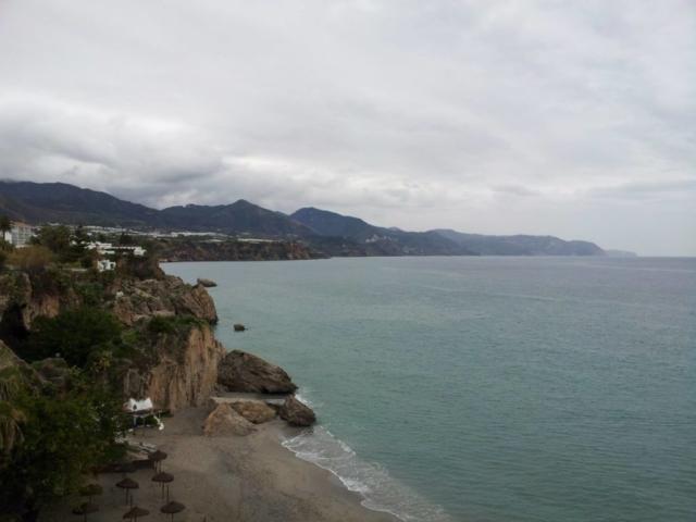 View of Nerja East Beach from Balcon de Europa