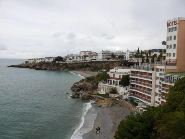 View of Nerja West Beach from Balcon de Europa
