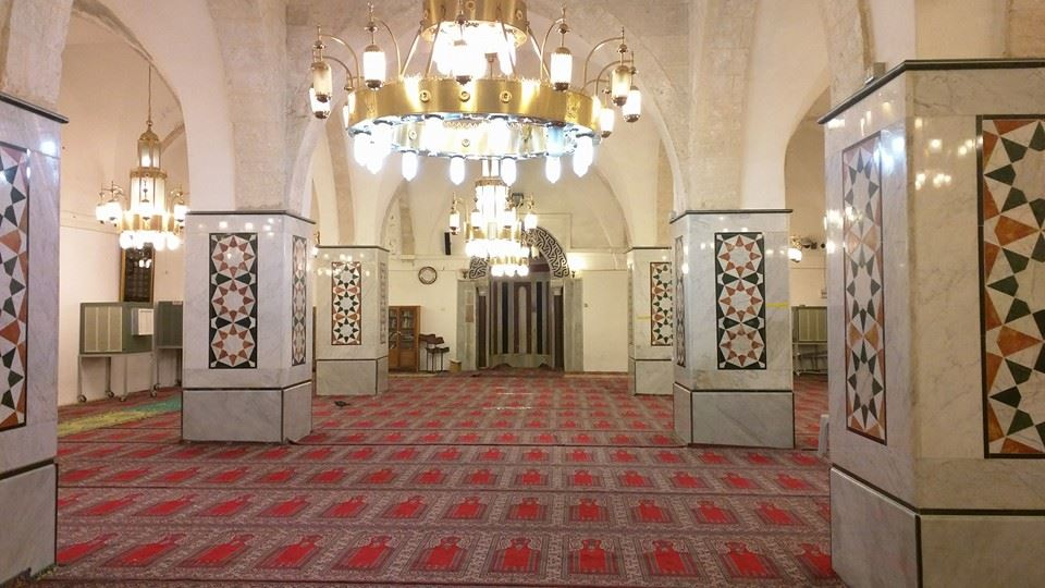 Inside the Ibrahimi Masjid.