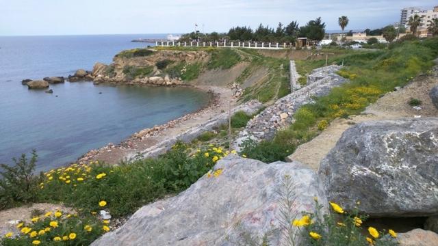 Kyrenia beach.