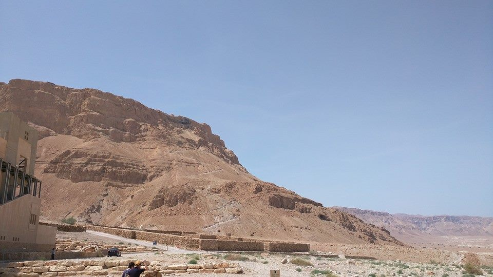 Outside the Masada complex.