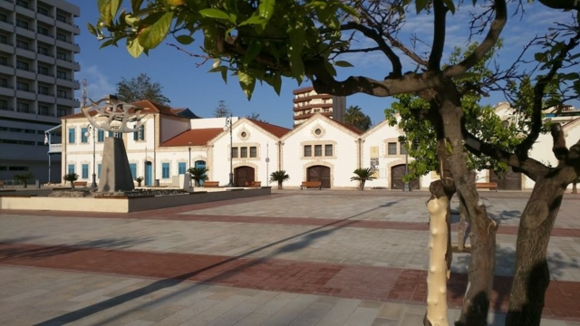 Finikoudes square, Larnaca.