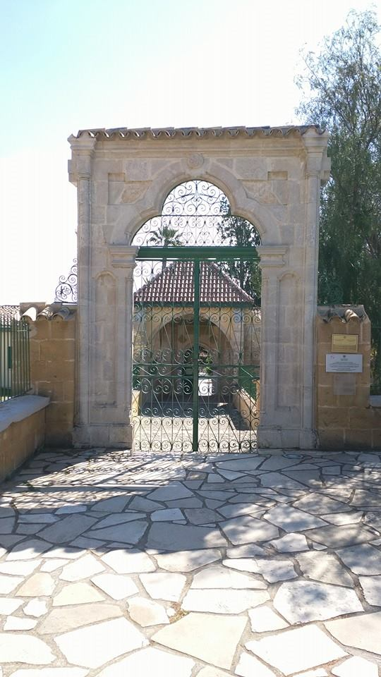 Entrance to the Hala Sultan Tekkes, also known as Umm Haram Masjid, which is supposedly the burial place of the Prophet's wet nurse.