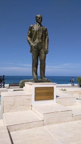 Statue of Kamal Ataturk in Kyrenia town.