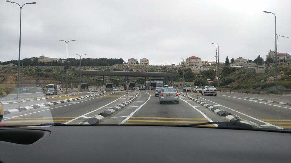 Zionist military checkpoint