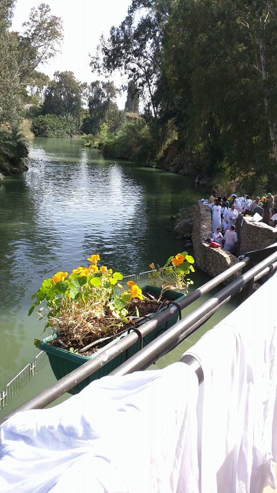 At the River Jordan.