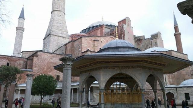 Courtyard of the Hagia Sophia