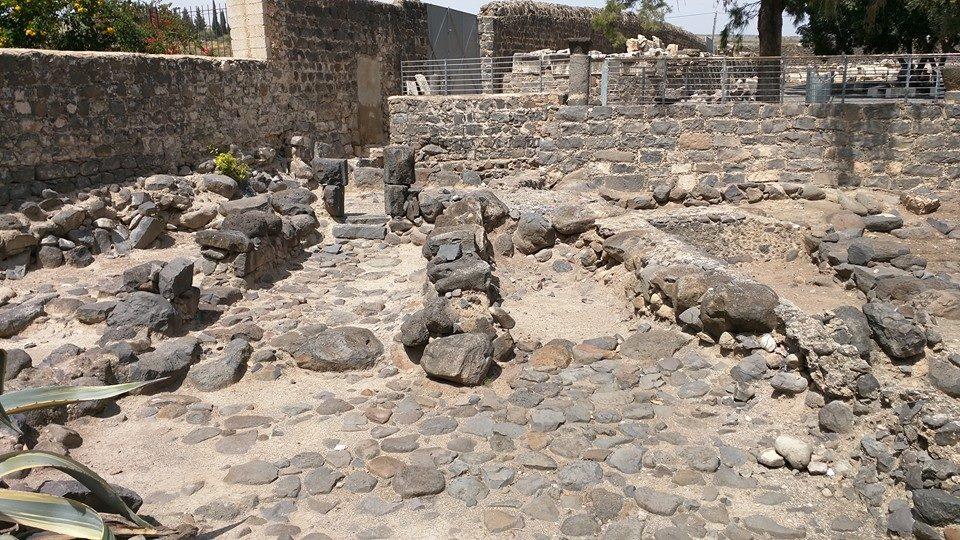 Ruins of Capernaum village.