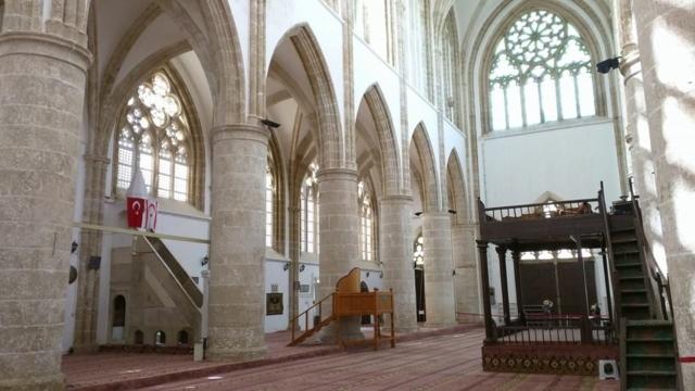 Inside Lala Mustafa Pasha Masjid, in Famagusta.
