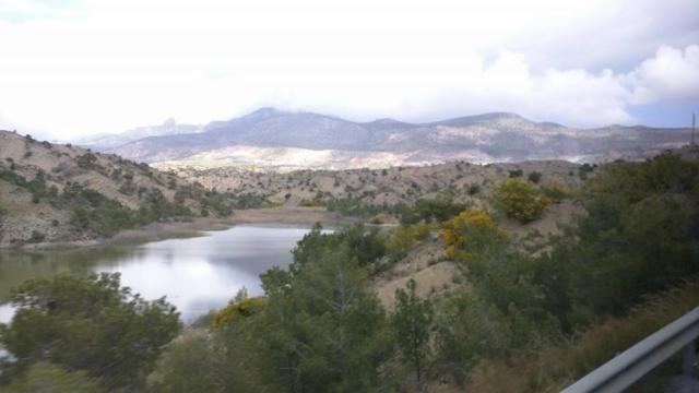 Beautiful scenery of the Kyrenia Mountains.
