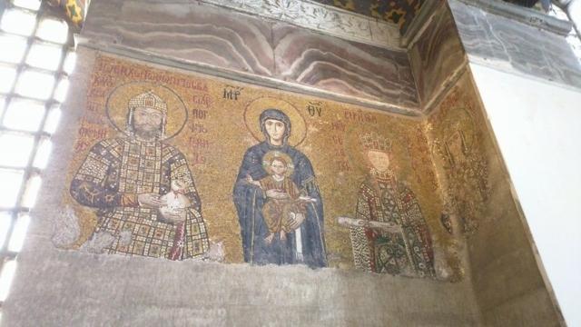 Mosaic work inside Hagia Sophia