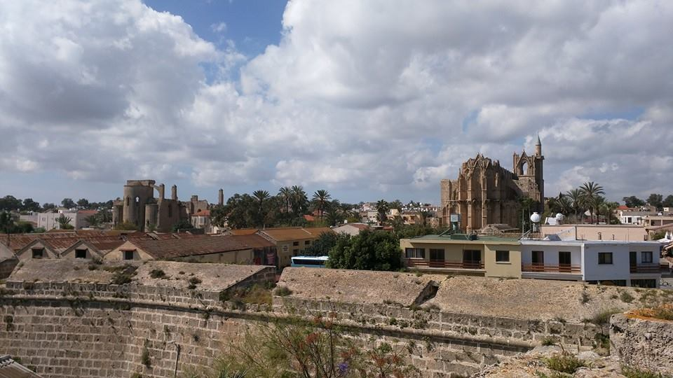 View of Famagusta town from the city walls.