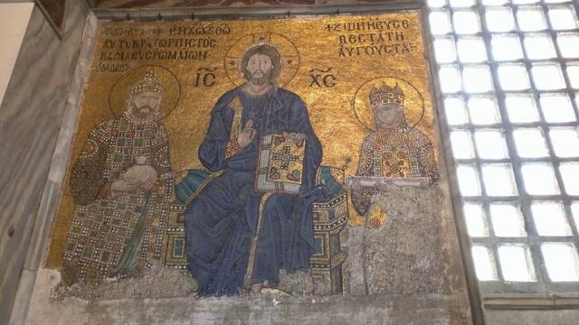 Mosaic panel inside Hagia Sophia