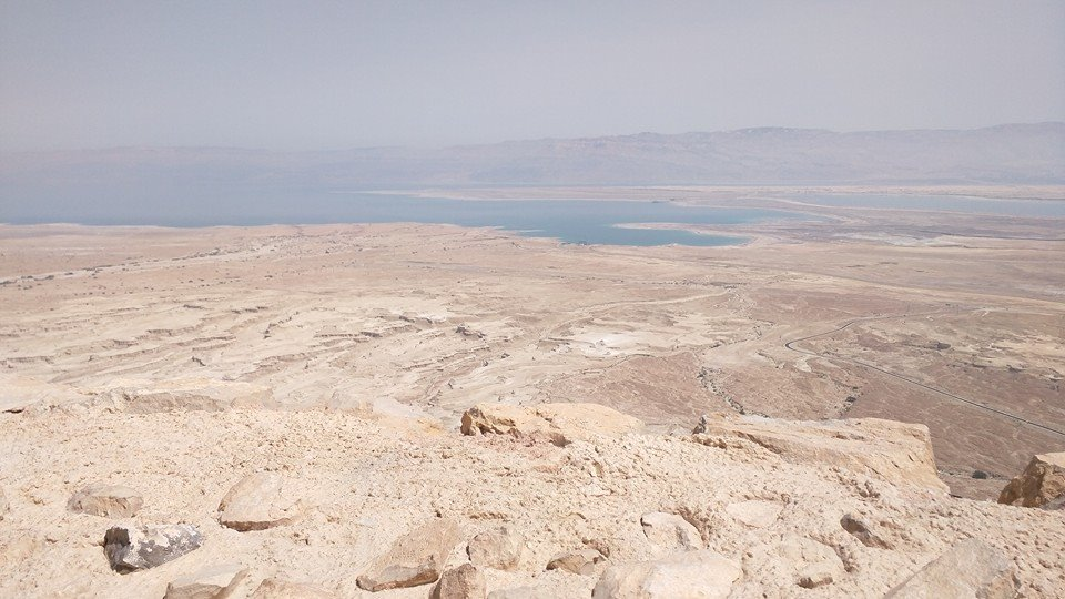 View from the top of the Masada complex.