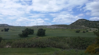 Cyprus countryside. Nowadays dominated by wind farms.