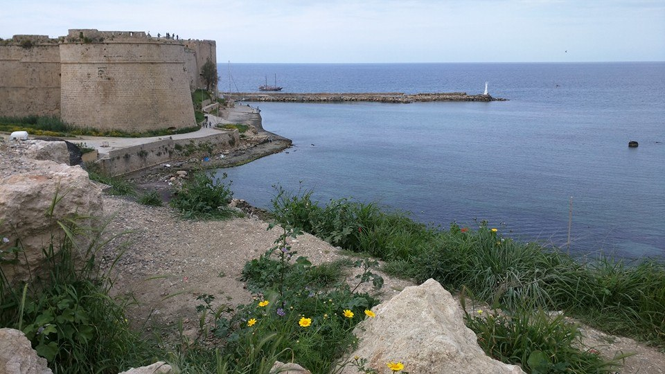 View of Kyrenia harbour and castle.