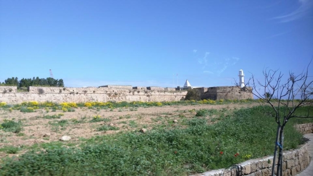 The defensive walls of Famagusta, more than 2km long. The lighthouse is because it sits on the Eastern edge of the island.