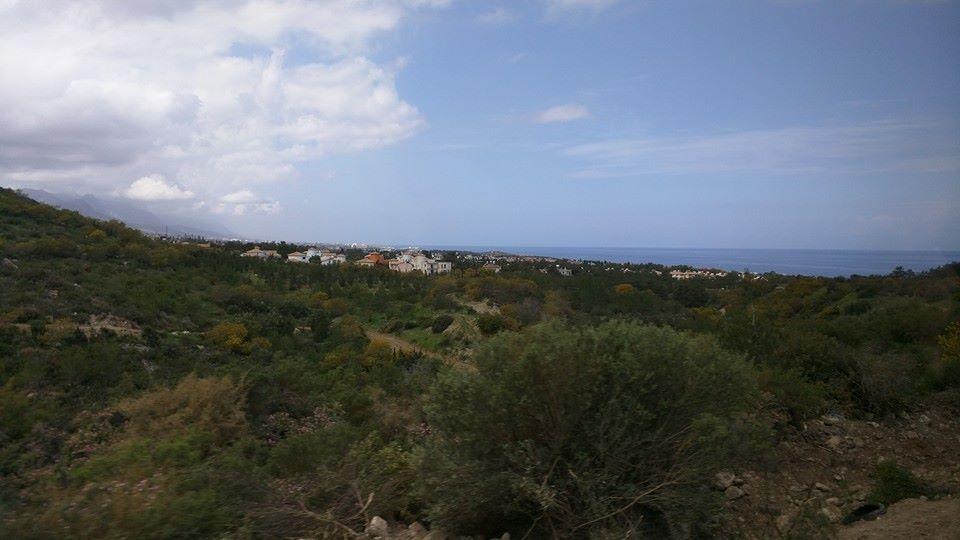 View of Kyrenia town from the Kyrenia Mountains.