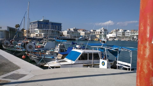 At Limassol Harbour.