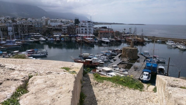 Harbour view from Kyrenia Castle.