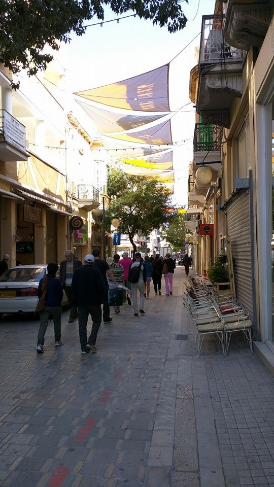 "Ledra Street, Nicosia. Heading towards the ""Green Line"" that divides Northern and Southern Cyprus."