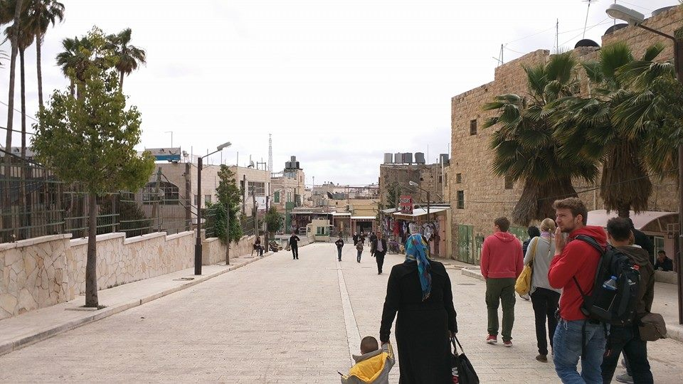 Walking towards occupied Hebron city centre.