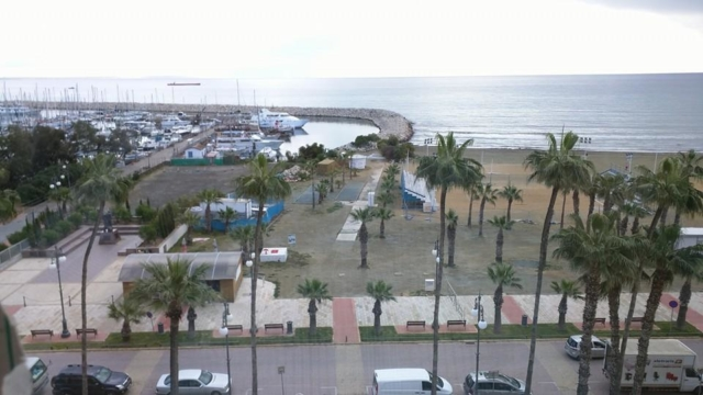 View of Finikoudes Marina, from my apartment in Larnaca.