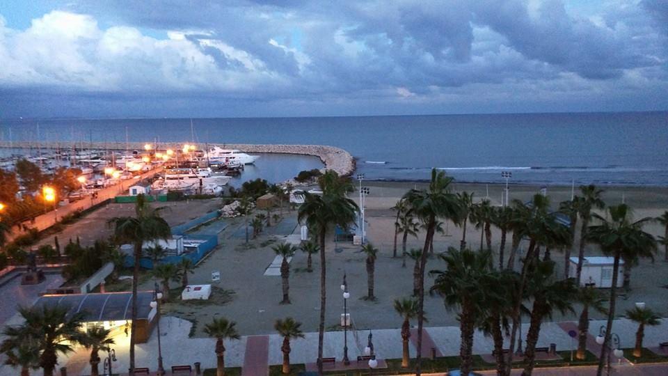 Larnaca Marina at night.