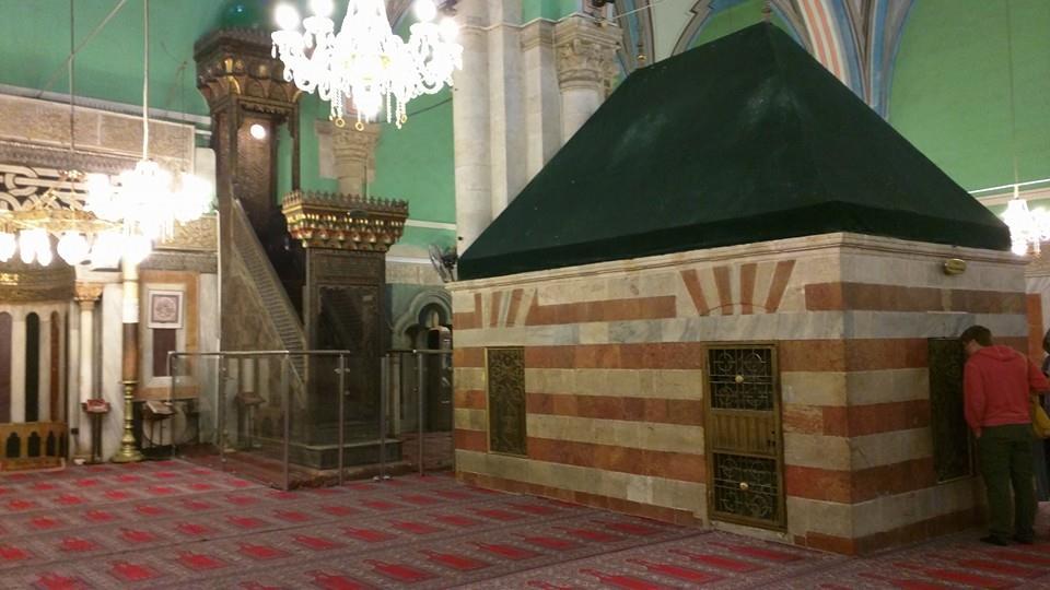 Main prayer hall. Inside the Ibrahimi Masjid.