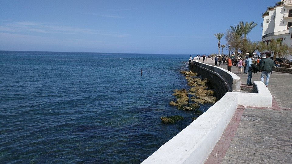 Gorgeous clear blue waters at Kyrenia town.