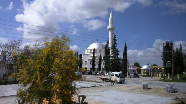 A beautiful silver domed Masjid in the Famagusta countryside.