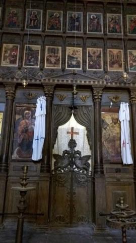 Inside the Bellapais Abbey.