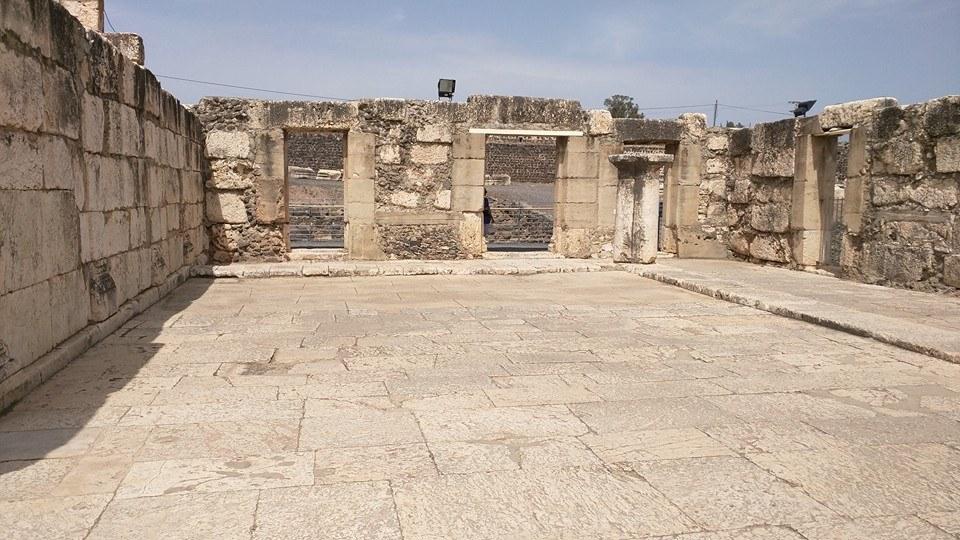 Ruins of Capernaum Synagogue.