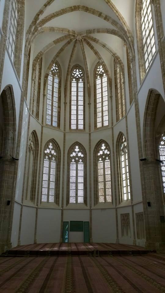Inside Lala Mustafa Pasha Masjid.