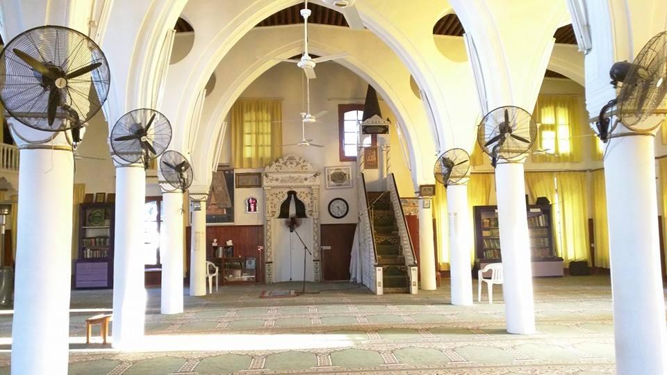 Inside Larnaca Masjid.