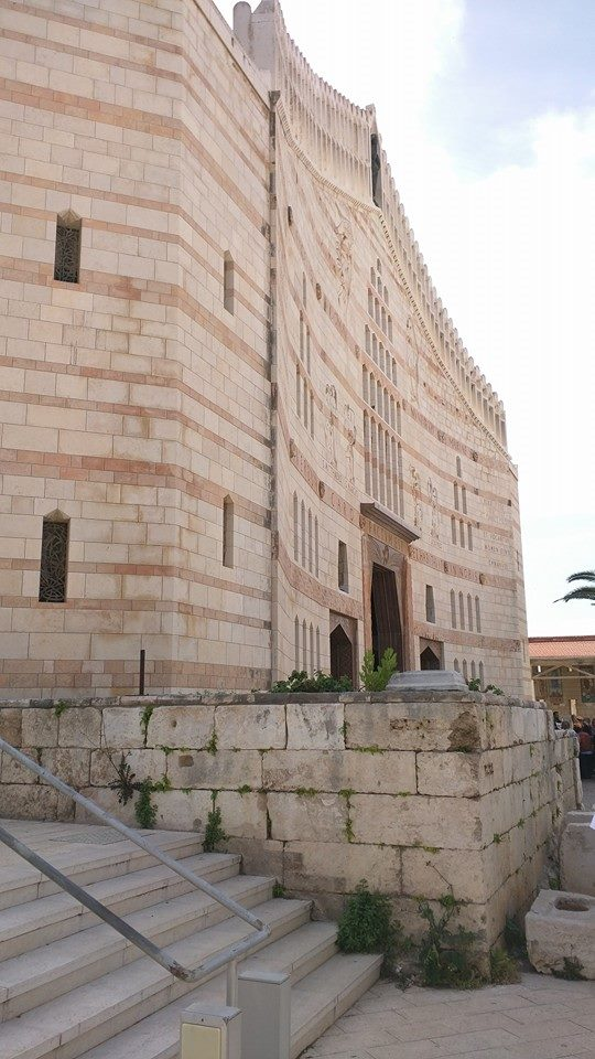 Exterior of the Basilica of the Annunciation.
