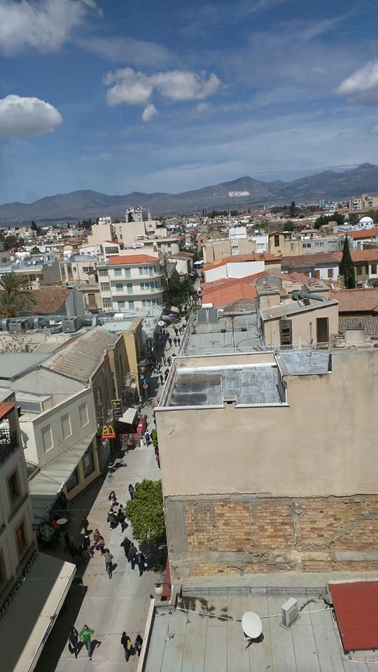 View into Northern Cyprus from the Shakolas Tower on Ledra Street in Nicosia.