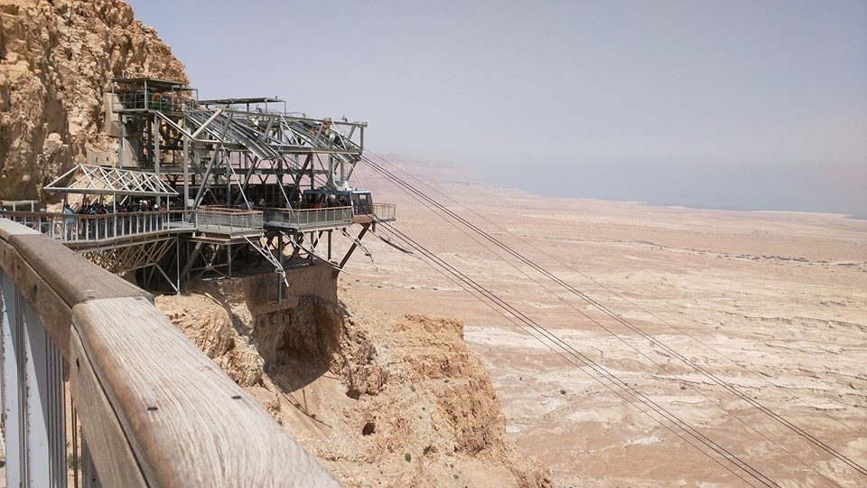 Cable car, Masada fortress.