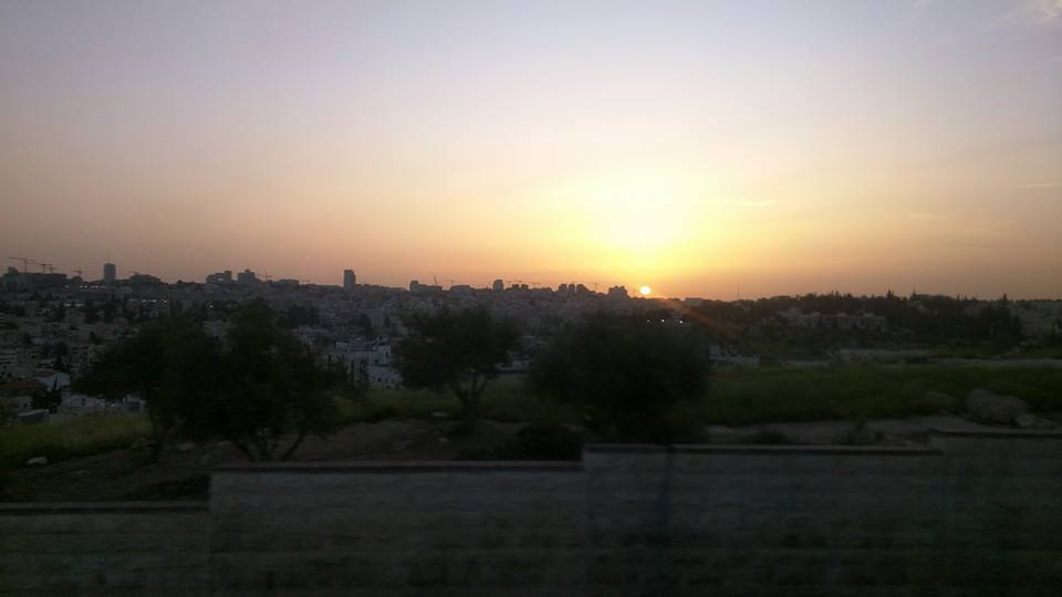 Sunset over Jerusalem.