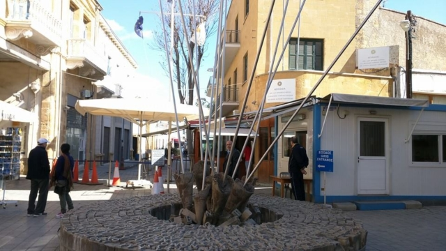 "Greek side of the ""Green Line"" border on Ledra Street, Nicosia."