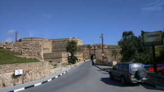 "Arrival at the ""Ghost Town"" of Famagusta and a view of the impressive city walls."
