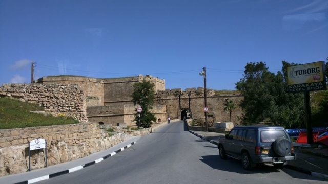 """Arrival at the """"Ghost Town"""" of Famagusta and a view of the impressive city walls."""
