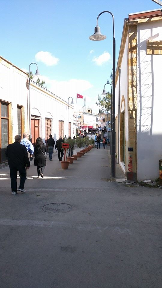 """""""No Mans Land"""" section of Ledra Street, Nicosia, which separates Northern and Southern Cyprus."""