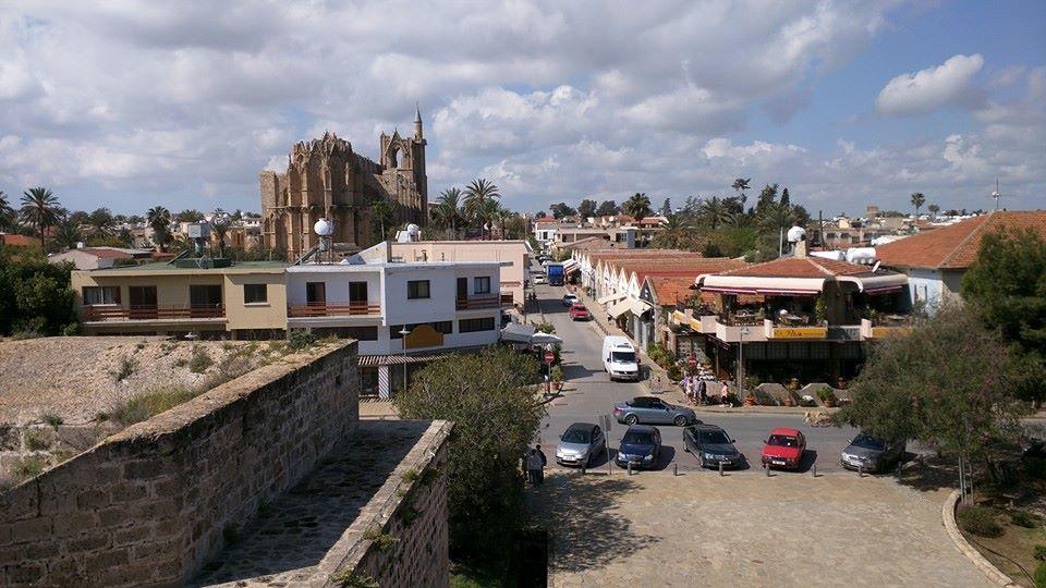 View of Lala Mustafa Pasha Masjid from the city walls.