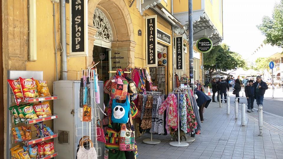 "The famous ""Indian Shops"" on Ledra Street, Nicosia."