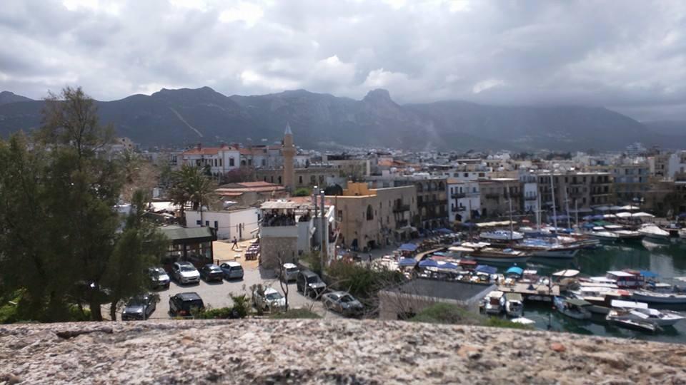 View of Kyrenia mountains from Kyrenia Castle.