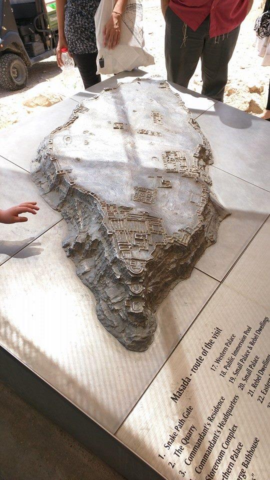 Model of the Masada complex.