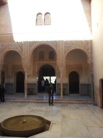 Inside the Nasrid Palace.